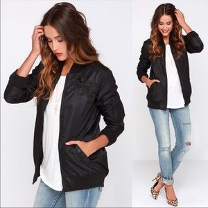 OBEY Maverick Black Bomber Jacket
